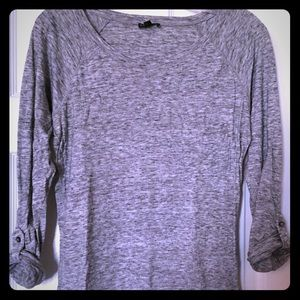 Express Long Sleeved Cuffed Tee Small Gray GUC
